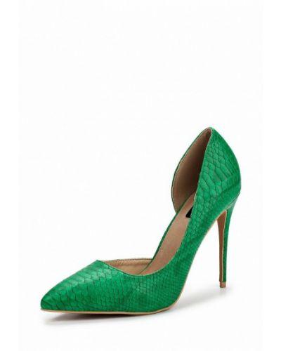 Зеленые кожаные туфли Lost Ink.