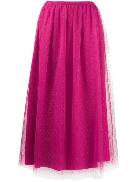 Плиссированная юбка на резинке миди Redvalentino