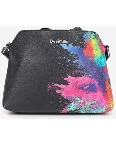 Кожаный сумка через плечо черный Desigual