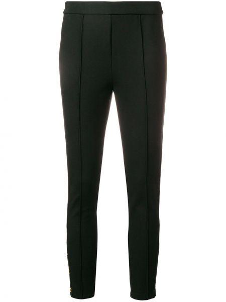 Черные укороченные брюки на резинке узкого кроя Tory Burch