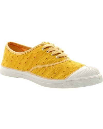 Żółte sneakersy Bensimon