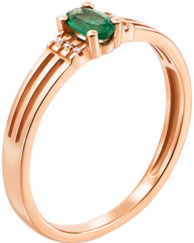 Кольцо с бриллиантом металлическое Zlato
