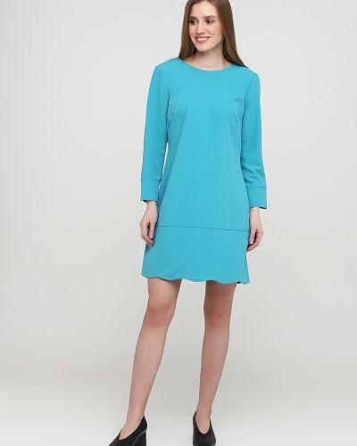 Прямое бирюзовое платье с круглым вырезом Nife
