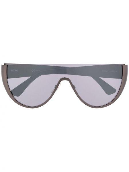 Прямые черные солнцезащитные очки металлические Moschino Eyewear