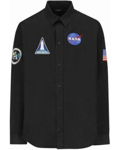 Koszula bawełniana - czarna Balenciaga