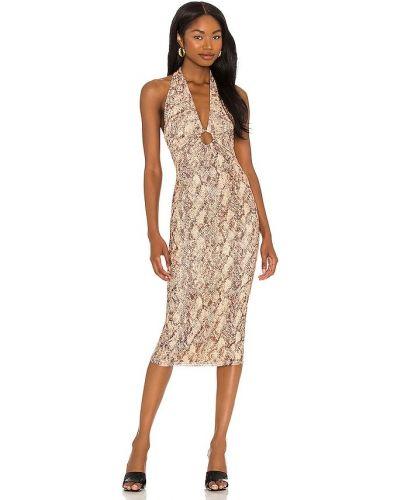 Текстильное платье миди с подкладкой Michael Costello