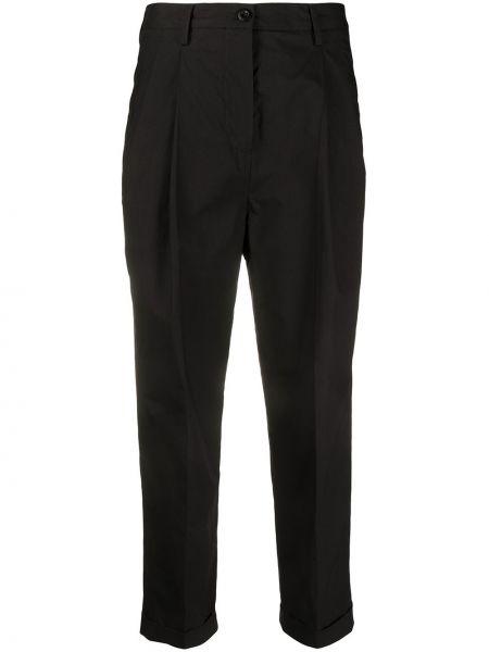 Przycięte spodnie czarne z kieszeniami Alberto Biani