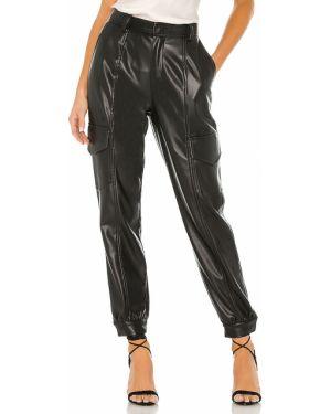 Czarne spodnie skorzane Yfb Clothing