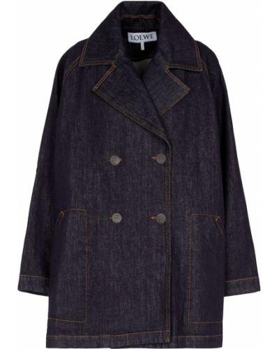 Синее джинсовое пальто Loewe