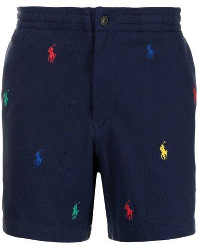 Синие шорты с принтом Polo Ralph Lauren