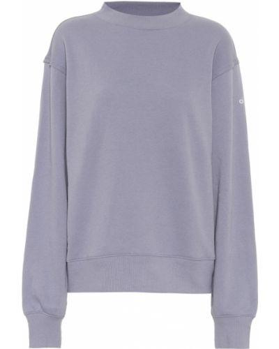 Fioletowa bluza elegancka bawełniana Alo Yoga