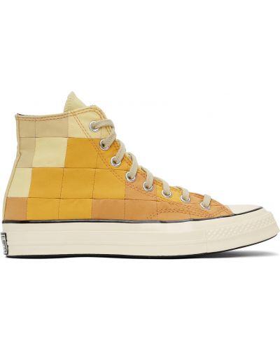 Кожаные высокие кроссовки - белые Converse