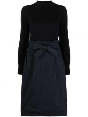 Шелковое платье миди - синее Peserico