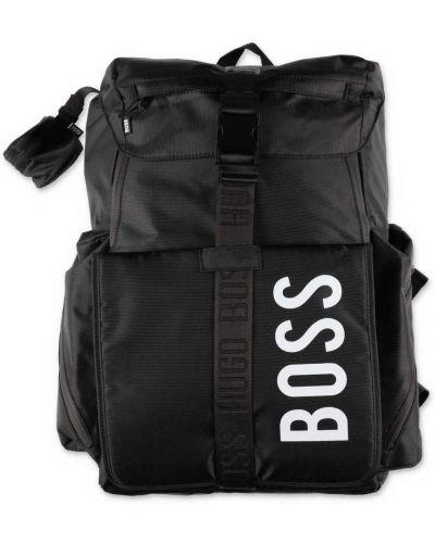 Czarny plecak szkolny z nylonu Hugo Boss