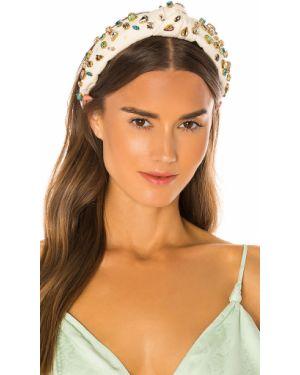 Beżowy kapelusz srebrny Lele Sadoughi