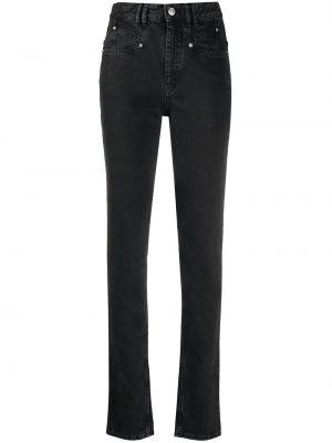 Облегающие зауженные джинсы - черные Isabel Marant