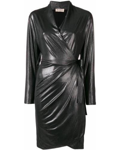 Платье миди с запахом с V-образным вырезом Blanca