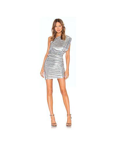 Однобортное серебряное платье Iro