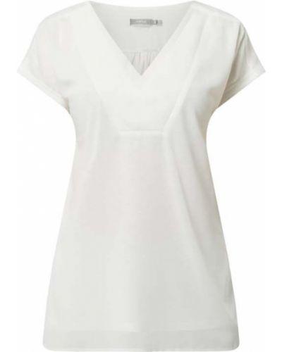 Biała bluzka z dekoltem w serek z szyfonu Fransa