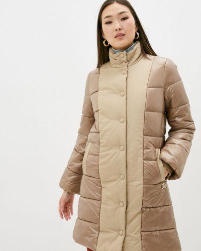 Утепленная бежевая куртка Trussardi Jeans