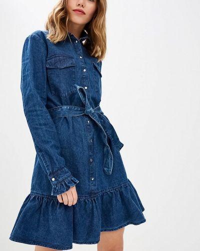 Джинсовое платье осеннее Lost Ink.