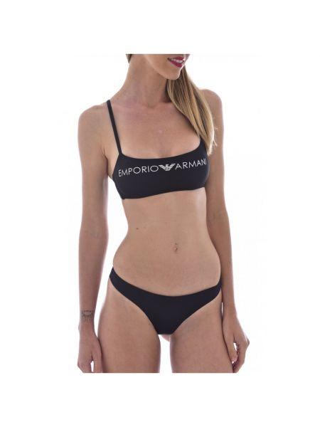 Czarny bikini Emporio Armani