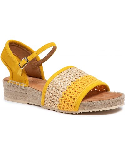 Sandały espadryle - żółte Unisa