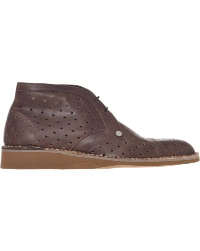 Кожаные ботинки - коричневые A.testoni