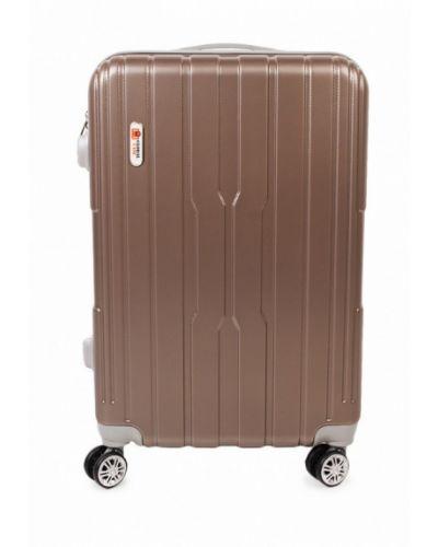 Коричневый чемодан Global Case
