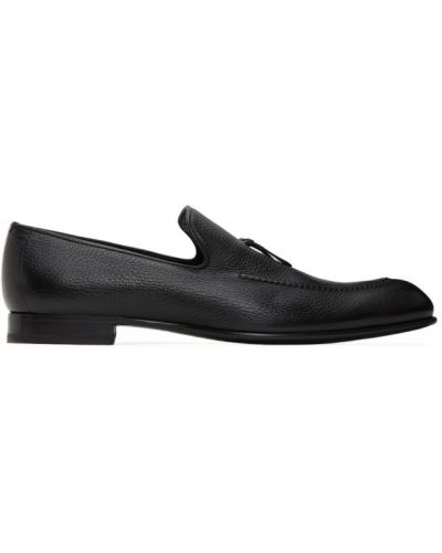 Czarne loafers skorzane Brioni
