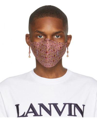 С ремешком текстильная маска для лица золотая Lanvin