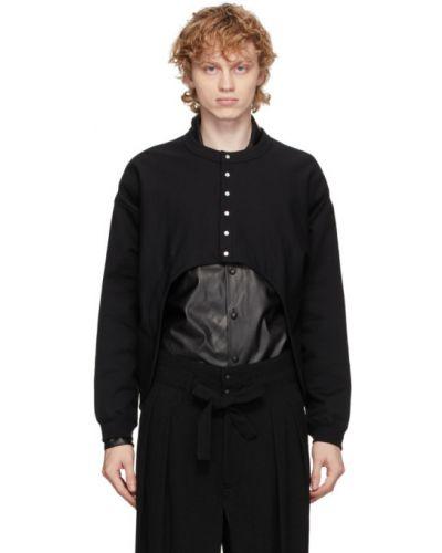 Черный кардиган с длинными рукавами с воротником Sasquatchfabrix.