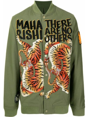Зеленая длинная куртка Maharishi