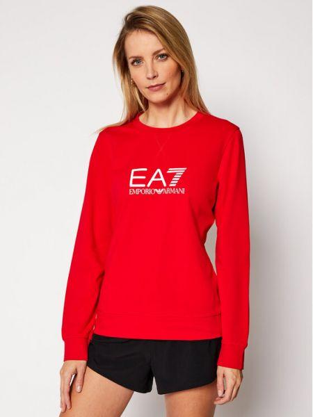 Czerwony dres Ea7 Emporio Armani