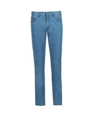 Хлопковые прямые джинсы с жемчугом Castello D'oro