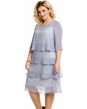 Платье каскадное через плечо Novita