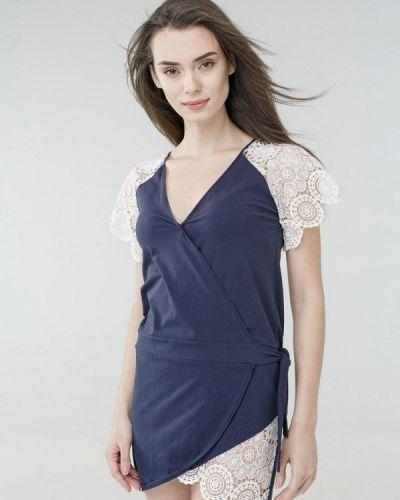 Пляжное платье весеннее синее Ora
