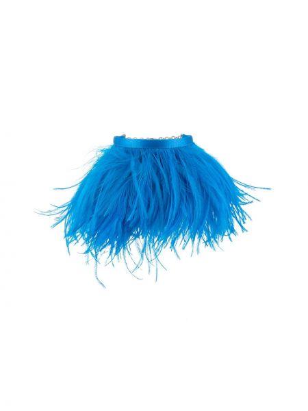 Niebieski łańcuszek z jedwabiu Attico