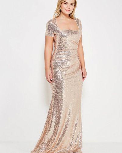 Вечернее платье - золотое Goddiva Size Plus