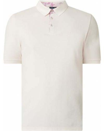 Różowy t-shirt bawełniany Daniel Hechter