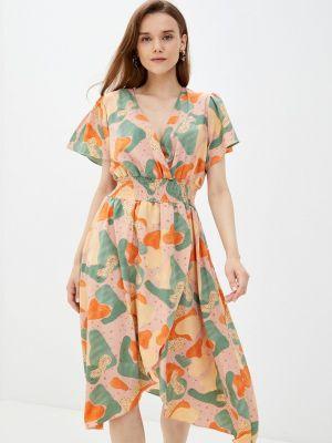 Розовое прямое платье Zibi London