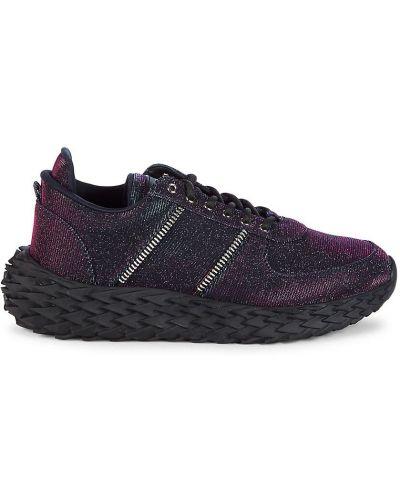 Buty sportowe skorzane - czarne Giuseppe Zanotti
