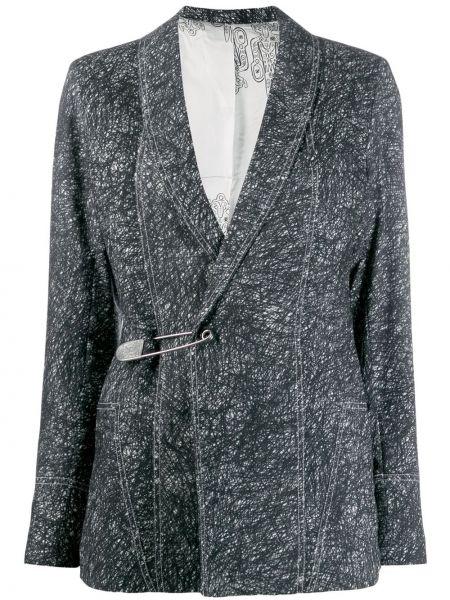 Шерстяной черный приталенный пиджак Charles Jeffrey Loverboy