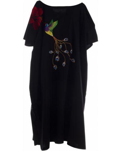 Czarna sukienka Stella Jean