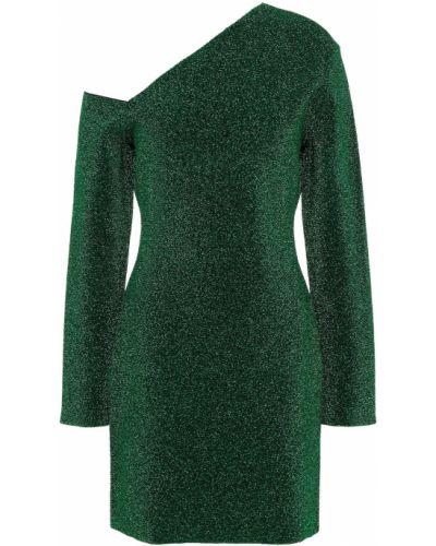 Платье мини с люрексом - зеленое Solace London