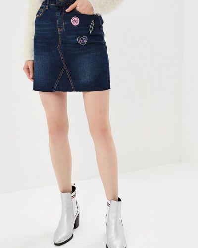 Джинсовая юбка карандаш синяя Blendshe