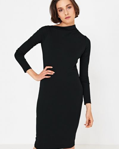 Платье мини из вискозы однотонное Simple
