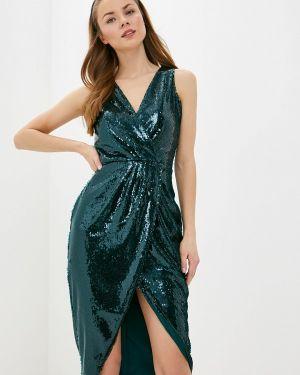 Вечернее платье осеннее зеленый Love Republic