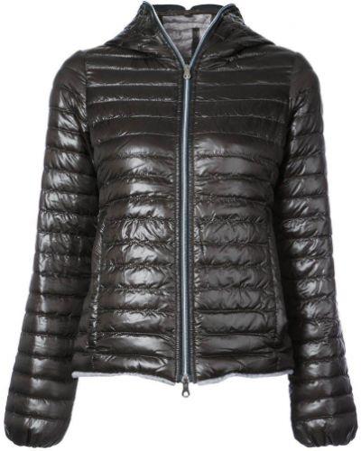 Стеганая куртка с капюшоном длинная дутая Duvetica