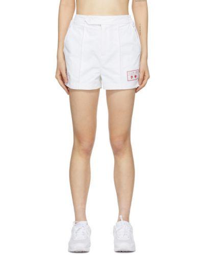 Белые шорты с карманами с вышивкой Li-ning